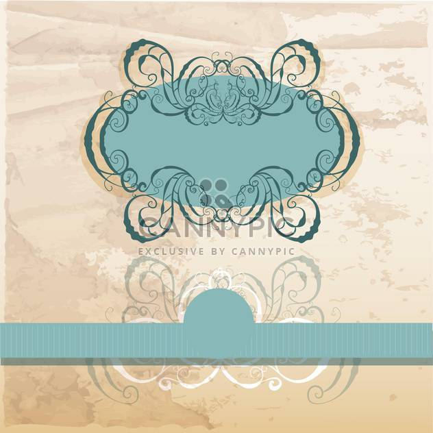 vector vintage ornate frame - Free vector #133027