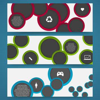 vector set of web buttons - Free vector #133047