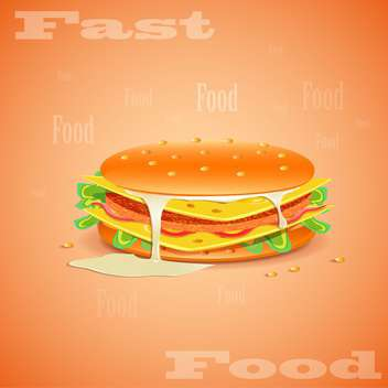 fast food hamburger background - vector gratuit #133057