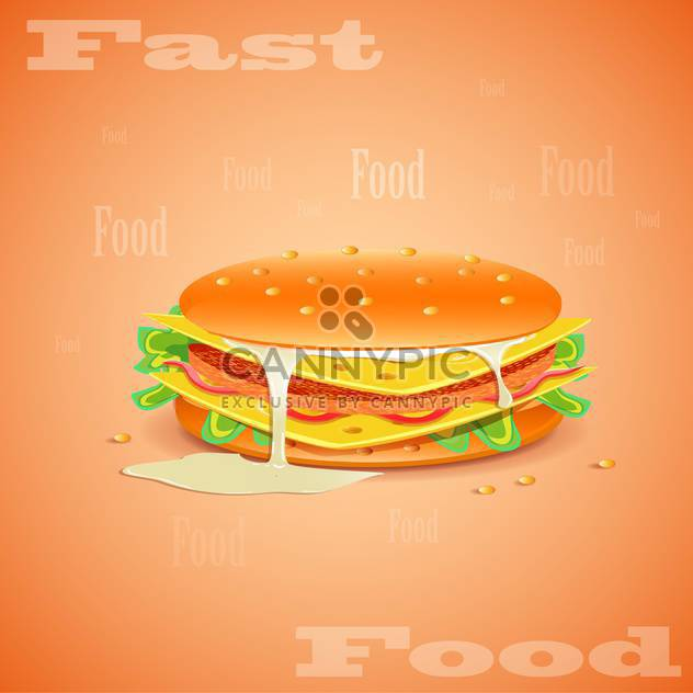 fast food hamburger background - Free vector #133057