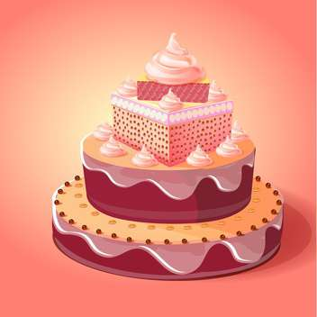 birthday cake vector illustration - бесплатный vector #133077