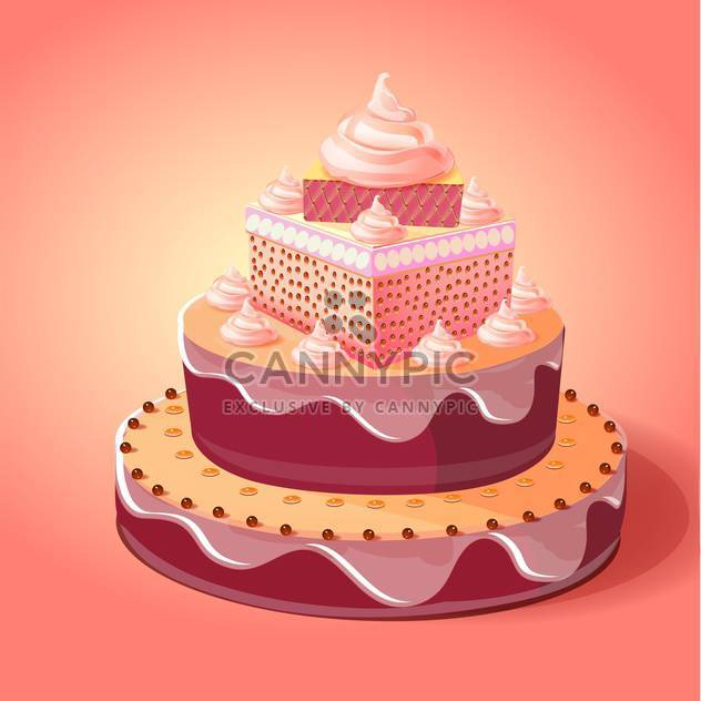 birthday cake vector illustration - Free vector #133077