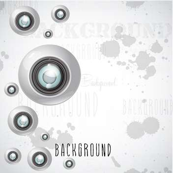 camera lens vector background - vector #133097 gratis