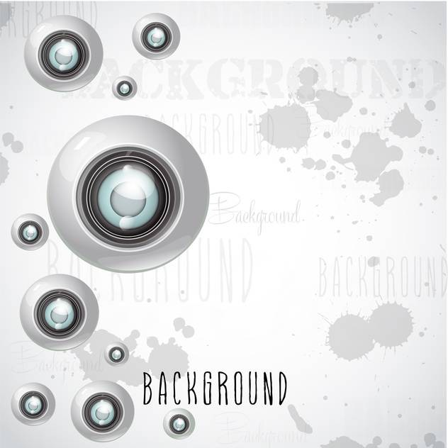 camera lens vector background - vector gratuit #133097