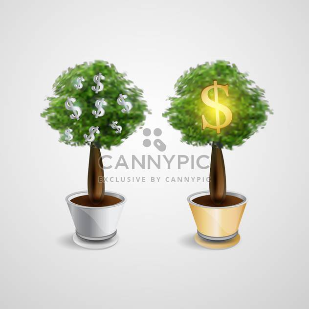 vector money trees illustration - Free vector #133107