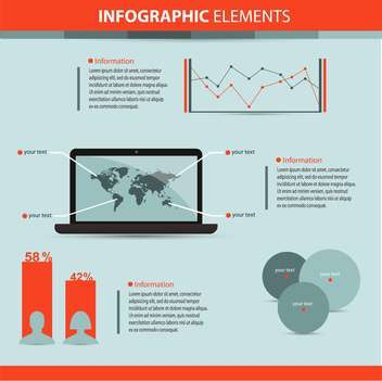 business infographic elements background - vector gratuit #133117