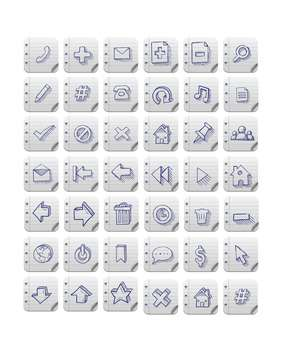 vector set of web icons - vector gratuit #133147
