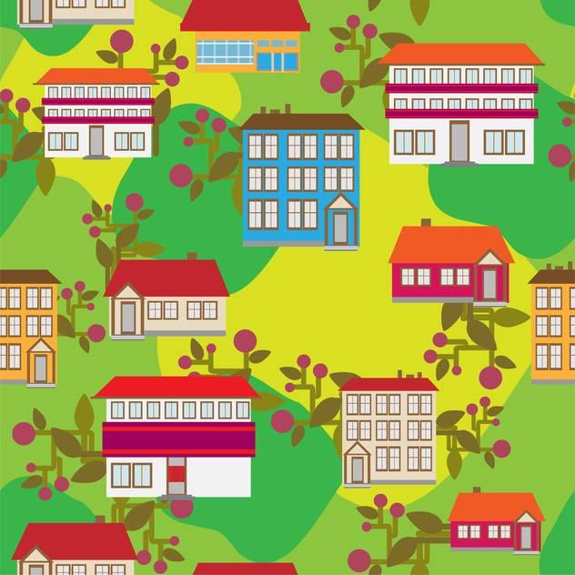 cartoon vector buildings in city - vector #133157 gratis