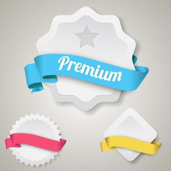 vector blank premium badges set - Kostenloses vector #133177
