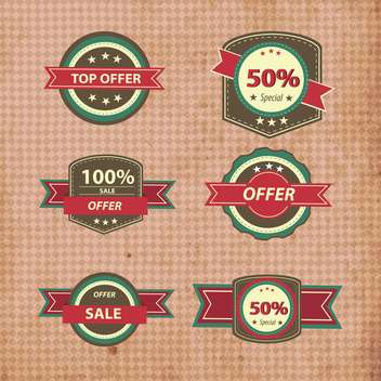 retro discount shopping signs - vector gratuit #133187