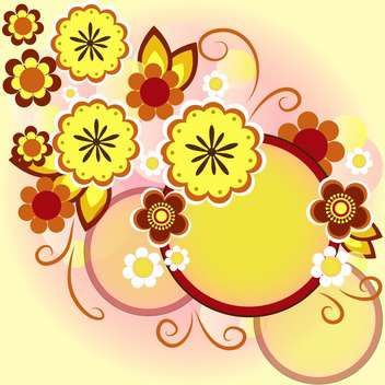 vector floral summer background - vector gratuit #133217