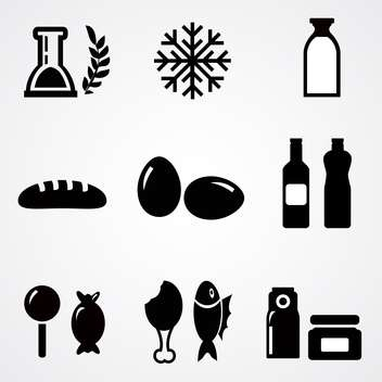 food icons vector illustration - vector #133287 gratis
