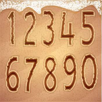 beach font numbers set - vector #133337 gratis