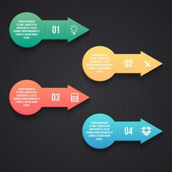 business process arrows steps - vector gratuit #133367