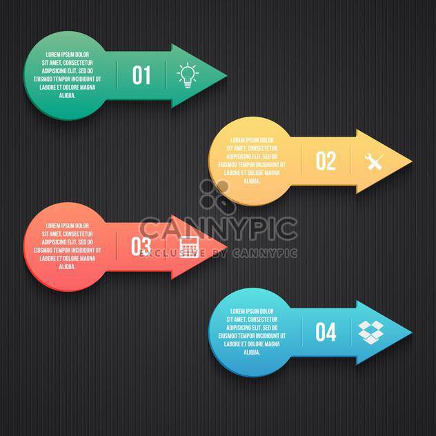 business process arrows steps - Free vector #133367