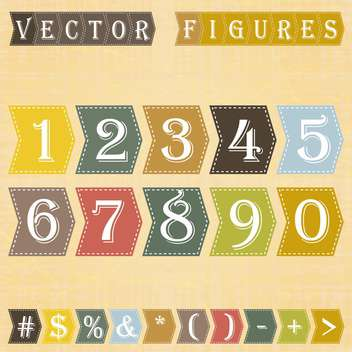 vector numbers set background - vector gratuit #133477