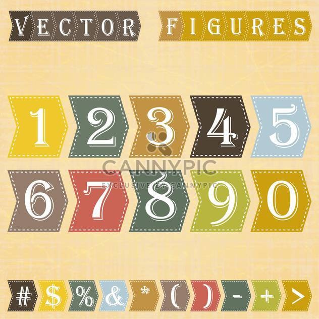 vector numbers set background - Free vector #133477