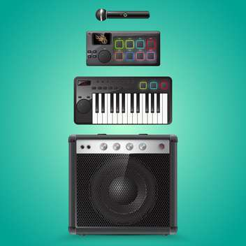 sound equipment vector icons - vector gratuit #133487