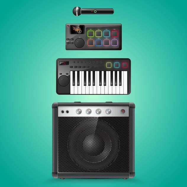 sound equipment vector icons - Free vector #133487