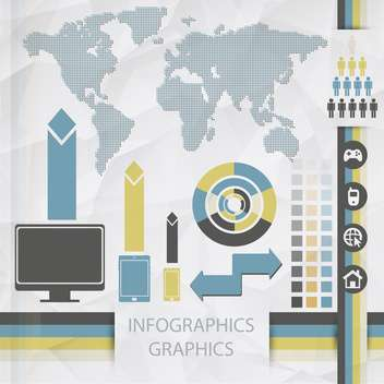 vector elements of business infographics - бесплатный vector #133497