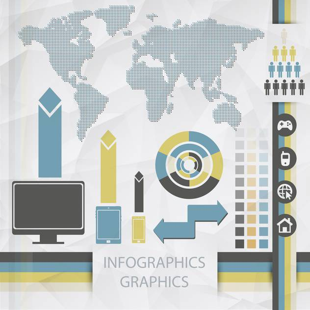 vector elements of business infographics - vector gratuit #133497