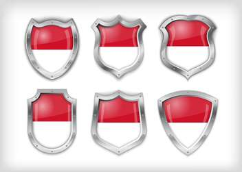 vector indonesian shield set background - Free vector #133597