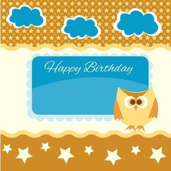 happy birthday vector background - vector gratuit #133627