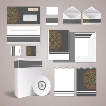 vector stationery design set - vector #133637 gratis