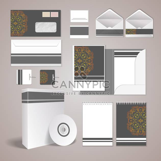 vector stationery design set - Free vector #133637