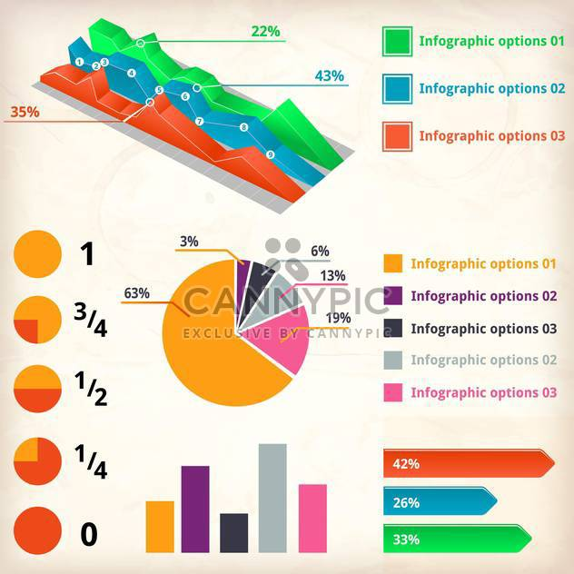 set of business infographics elements - Free vector #133657