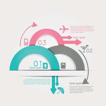travel infographics with data icons and elements - vector gratuit #133667