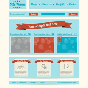 retro styled website template - Free vector #133747