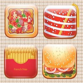 food icons set background - vector #133757 gratis