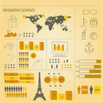 retro infographics set background - Free vector #133777