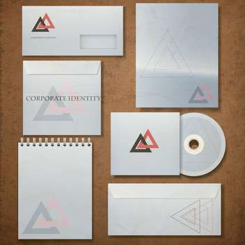 business corporate identity template - vector gratuit #133827