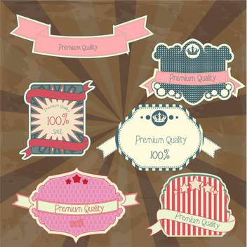 collection of high quality labels - Free vector #133867