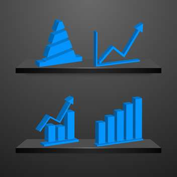 business charts and graphs collection. - vector gratuit #133887