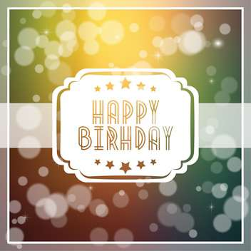 vintage birthday card background - vector gratuit #133907