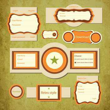 vintage vector login form - vector #133947 gratis