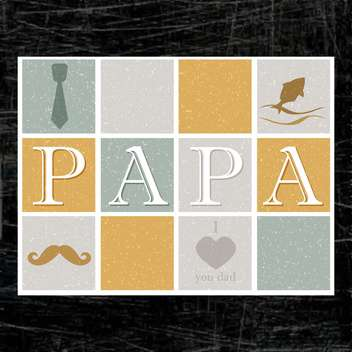 father's day card background - vector #134007 gratis
