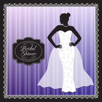 wedding bridal shower invitation - vector gratuit #134057