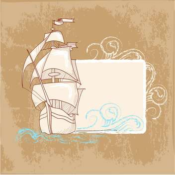 vintage marine postcards background - vector gratuit #134067