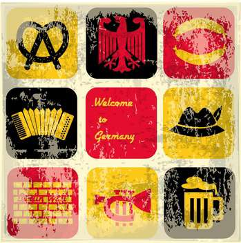 german icons elements background - vector gratuit #134077