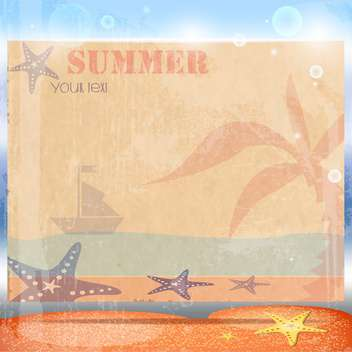 vintage summer postcard background - vector gratuit #134167