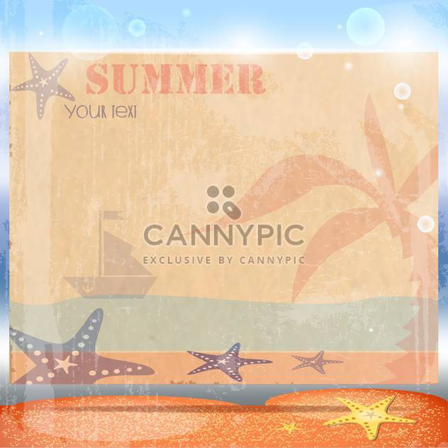 vintage summer postcard background free vector 134167