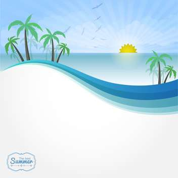 summer vacation vector background - Free vector #134187
