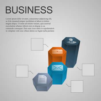 business diagram design element - vector gratuit #134257