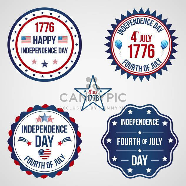 usa independence day labels set - Free vector #134367