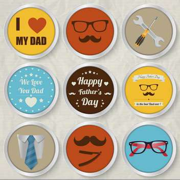 happy father's day set - vector gratuit #134377