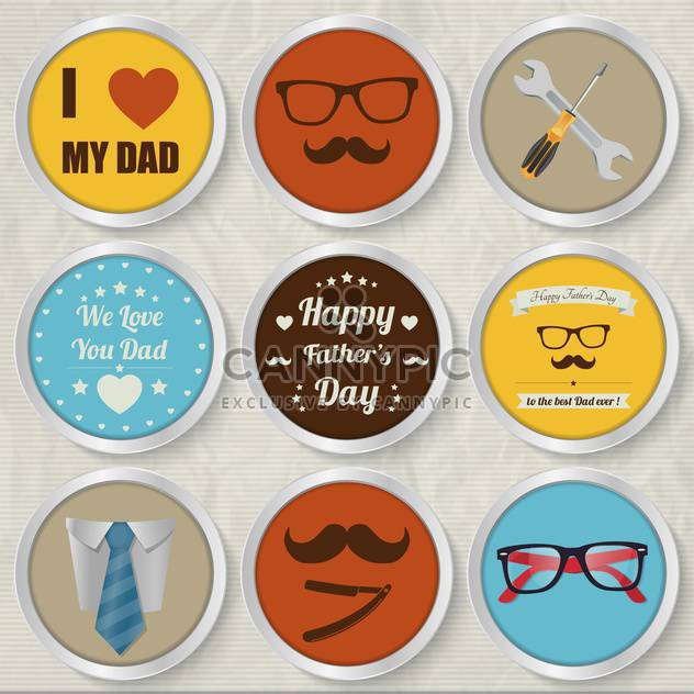 happy father's day set - Free vector #134377
